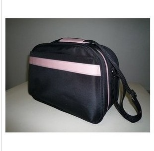 Black Polyster Cosmetic bag