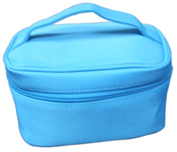 Blue Leather  Beauty  Cosmetic bag