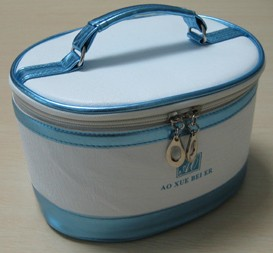Blue Polyster Cosmetic bag