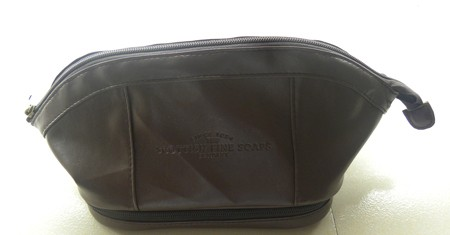 Brown  pu cosmetic bag
