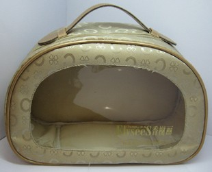 Brown Cosmetic bag With PVC