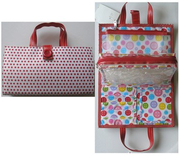 Colour Dots  Polyster Cosmetic bag