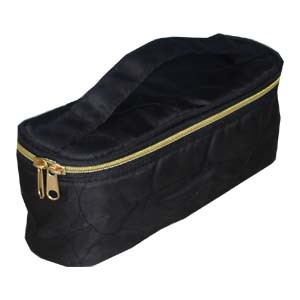 Fashion Black polyster Cosmetic bag