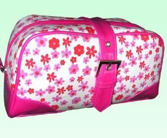 Fashion Black polyster Cosmetic bag