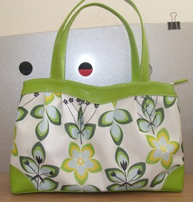 Flower Green Polyster Cosmetic bag