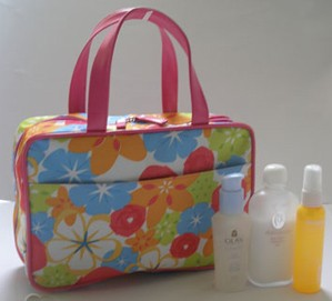 Flower Polyster Cosmetic bag