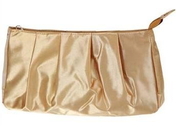 Gold Polyster Cosmetic bag