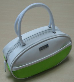 Green Leather Cosmetic bag