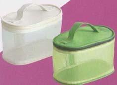 Green Mesh Beauty  Cosmetic bag