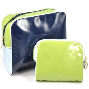 Green PVC Cosmetic bag