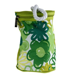 Green PVC Round shape Cosmetic bag