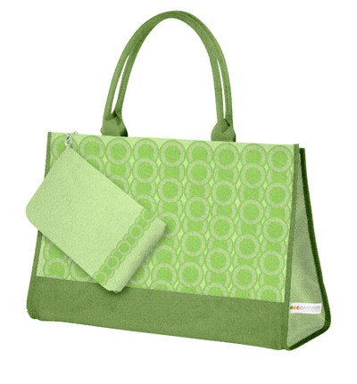 Green Polyster Cosmetic bag