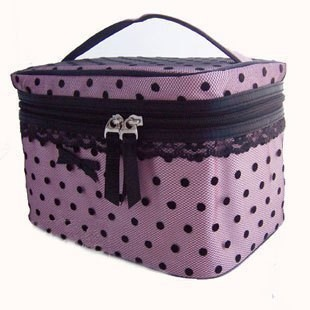 Pink Dots polyster  Cosmetic bag