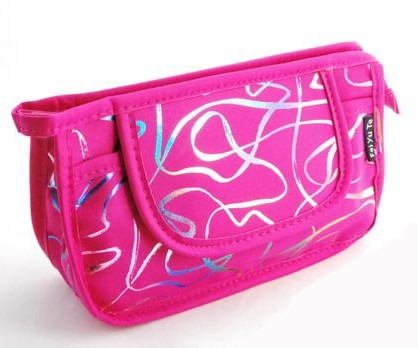 Polyster  Pink Cosmetic bag