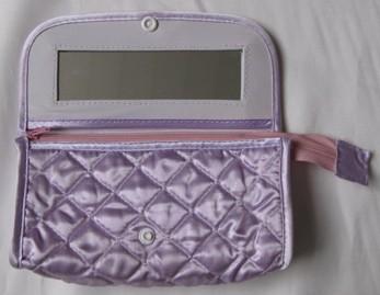 Purple  Leather Beauty  Cosmetic bag