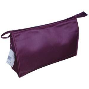 Purple Polyster Cosmetic bag