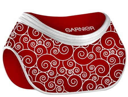Red   polyster Cosmetic bag