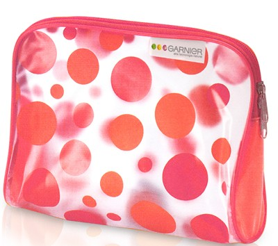 Red Dot pvc cosmetic bag