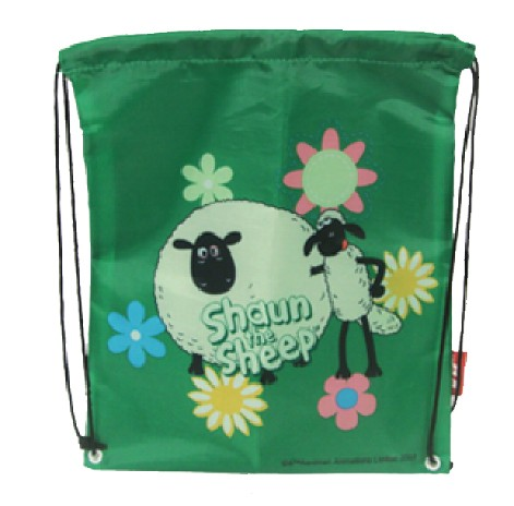 Green Polyster drawstring backpack