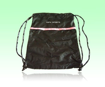 polyester drawstring bag with one speaker