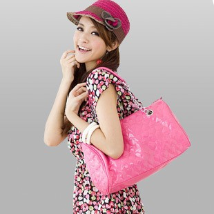2012 Hot sell Pink pu lady bag