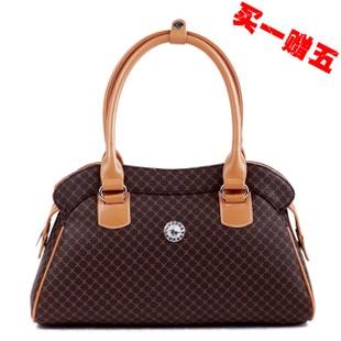 Ostrich pattern Grace Handbag