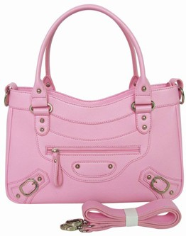 Pink Quality Leather handbags fashion