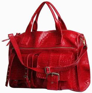 Red Quality PU Leather handbags