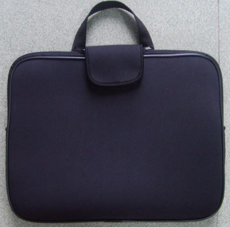 Black Neoprene  laptop bag