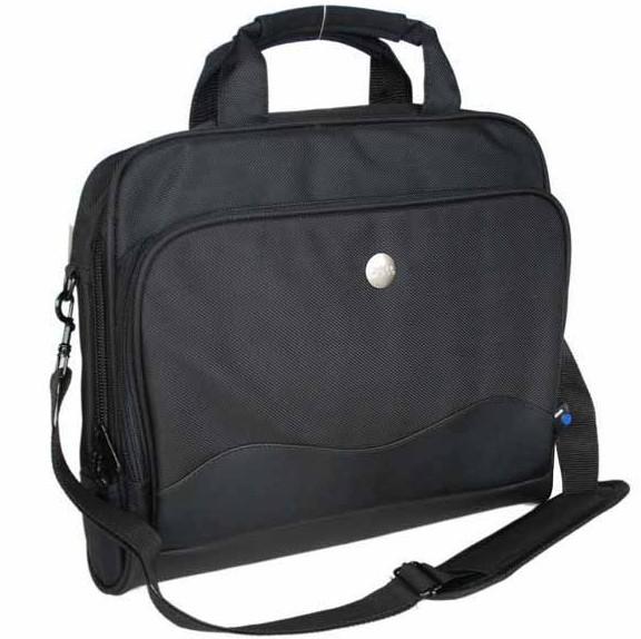Black Polyster  laptop bag