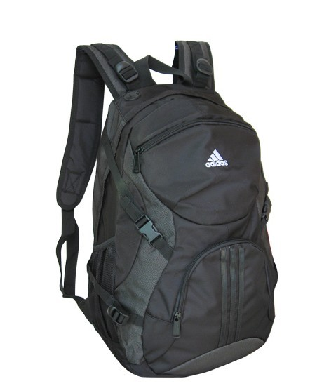 Black Polyster Computer Backpack
