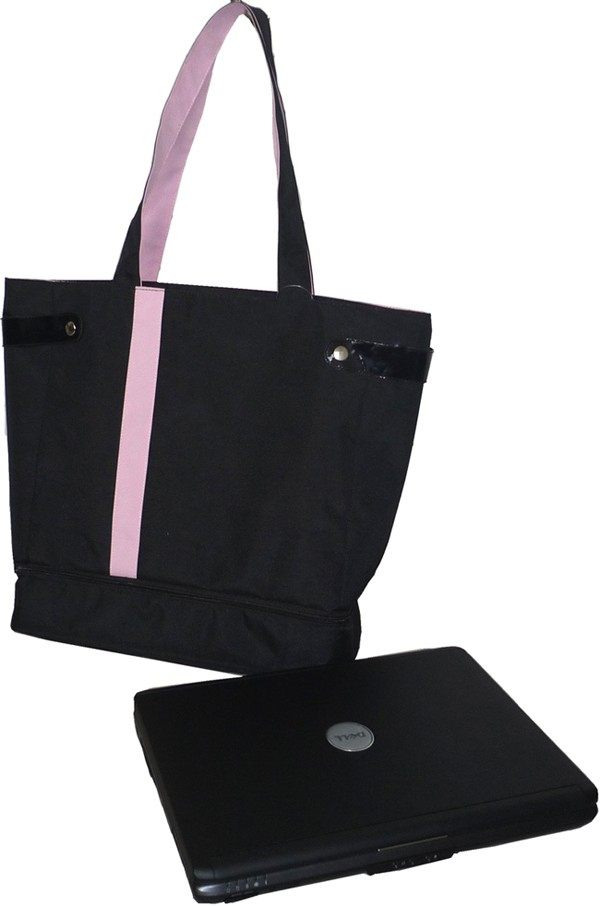 Black Polyster Computer Bag