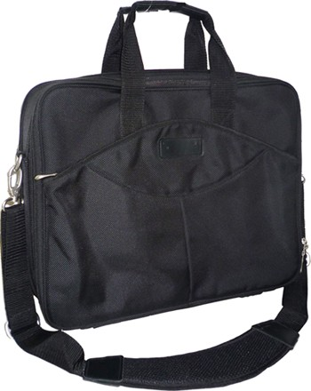 Black Polyster laptop bag
