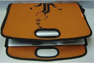 Brown Neoprene  laptop bag