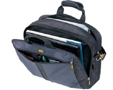 Gray  Polyster laptop bag