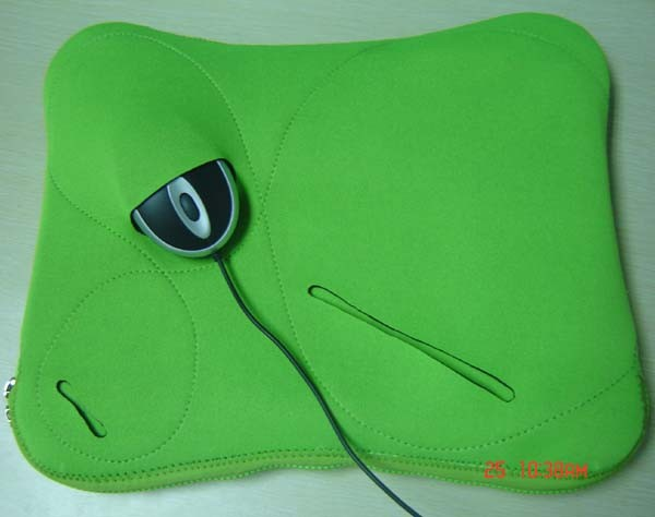 Green Neoprene laptop bag