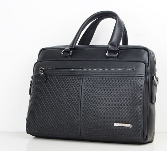 Hot sale Black Leather laptop bag