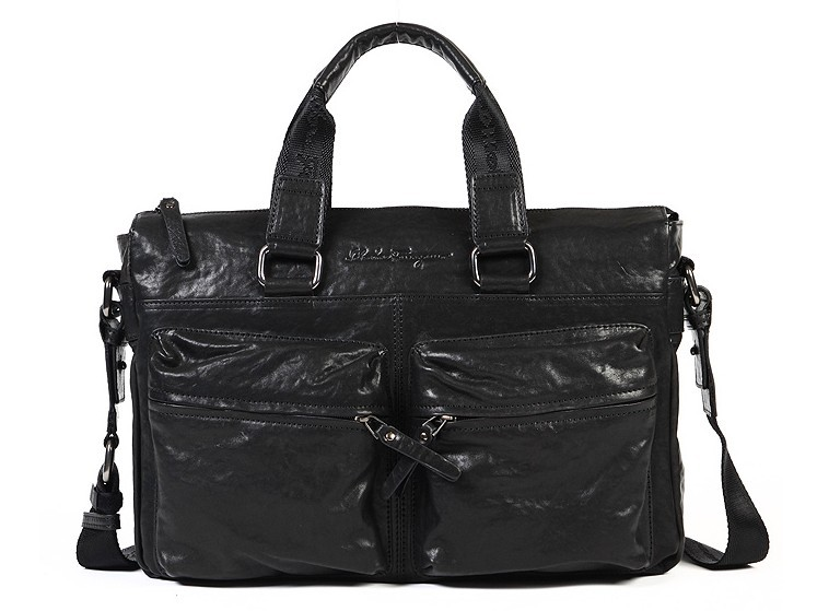 Hot sale Fashion Black Leather laptop bag