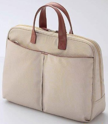 Hot sale Fashion Black Leather laptop bag