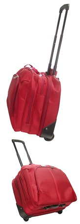 Hot sale Red 420D Polyster laptop bag with Trolly