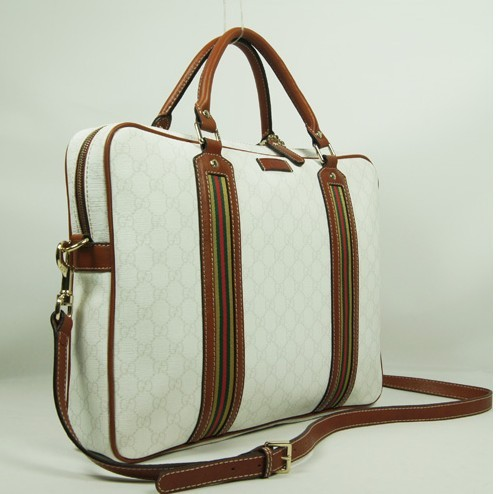 Hot sale White Leather laptop bag
