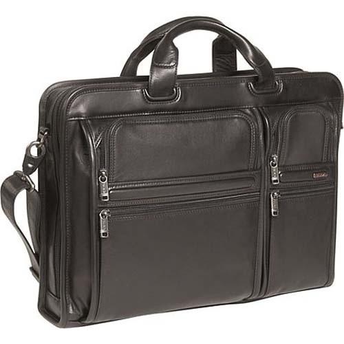 New design Fashion Black Leather  laptop bag