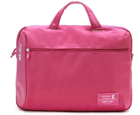 Pink Polyster Computer Bag