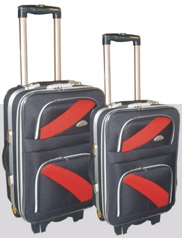 Black Polyster EVA Luggage bag