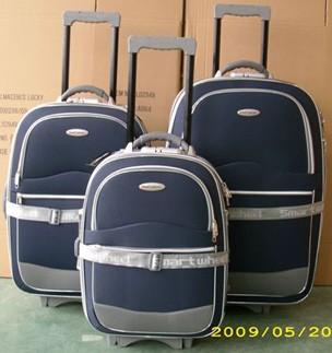 Blue EVA  Polyster  Luggage bag