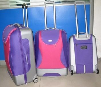 Blue EVA+Polyster Luggage bag