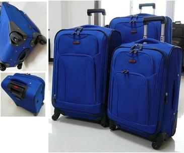 Blue EVA+Polyster Trolly bag