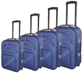 Blue Polyster EVA Luggage bag