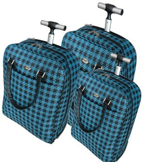 Blue polyster Luggage bag