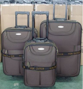 Brown Polyster Luggage bag